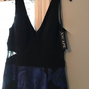Black and sapphire blue gown size 12